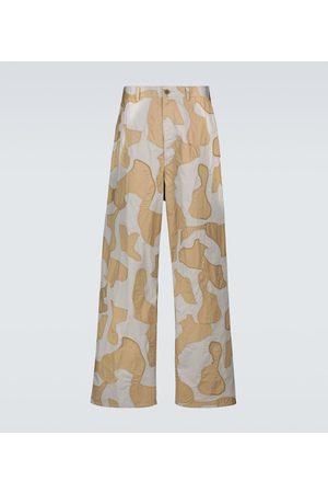UNDERCOVER Spodnie z szeroką nogawką - Wide-leg camouflage pants