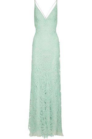 Costarellos Kobieta Sukienki koktajlowe i wieczorowe - Zanna lace and silk chiffon gown