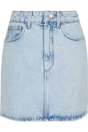 Alessandra Rich Kobieta Szorty - Floral cotton gabardine miniskirt