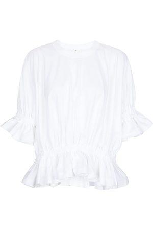 NOIR KEI NINOMIYA Ruffled cotton T-shirt