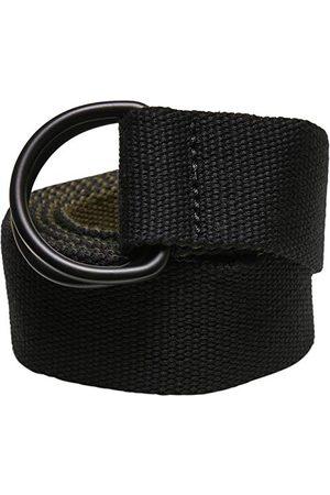 Urban classics Unisex Easy D-ring Belt 2-pak pasek, /oliwkowy i /pepple, jeden rozmiar (2 sztuki)