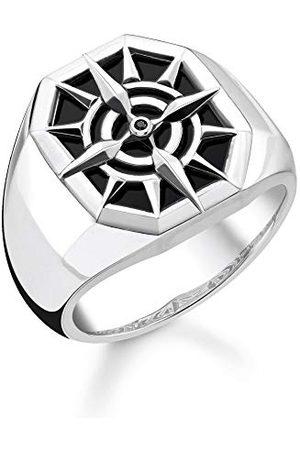 Thomas Sabo TR2274-641-11-50 pierścionek unisex z kompasem, srebro wysokiej próby 925