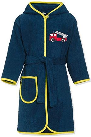 Playshoes Unisex dziecięcy szlafrok kąpielowy frotte dla straży pożarnej
