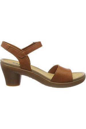Art Alfama Peeptoe sandały damskie, brązowy - Brązowa skóra - 42 EU