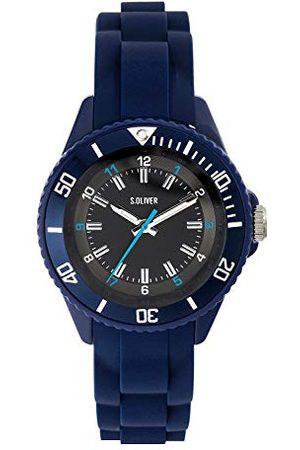 s.Oliver Dziecięcy analogowy zegarek kwarcowy z silikonowym paskiem 35mm