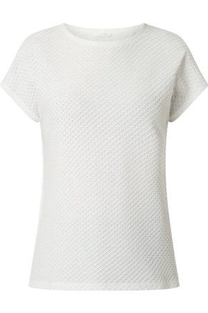 Opus T-shirt z fakturą plastra miodu model 'Semka'