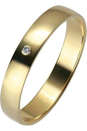 Trauringe Liebe hoch zwei Unisex 03500321405054 I2 0,01 karatów diament 14-karatowe żółte złoto rozmiar pierścionka P 1/2