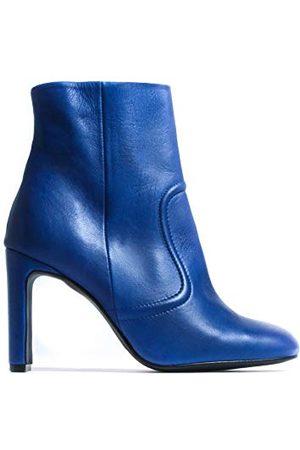L'INTERVALLE Damskie buty Cienega niebieskie skórzane do połowy łydki