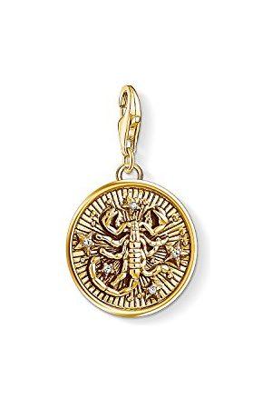 Thomas Sabo Damski męski wisiorek charm, znak zodiaku, srebro wysokiej próby 925, pozłacany 1659-414-39