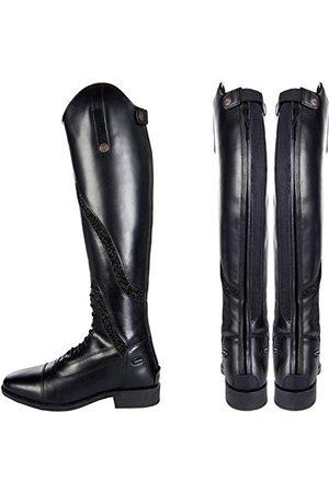 HKM Gijón 9108 buty do jazdy konnej, standardowa długość/szerokość, skórzane kozaki, uniseks, 36-42 spodnie, czarne, 37