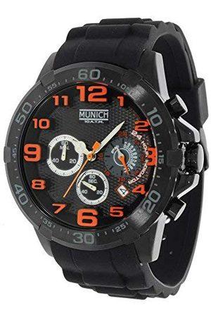 Munich Unisex dla dorosłych analogowy zegarek kwarcowy z gumową bransoletką MU+137.1B