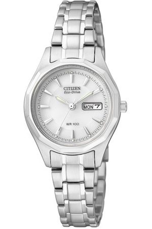 Citizen Damski analogowy zegarek kwarcowy z bransoletką ze stali szlachetnej EW3140-51AE