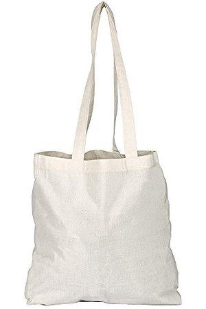 Generic EBuyGB bawełniana torba na zakupy płócienna i plażowa, 42 cm, beżowa