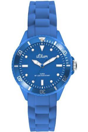 s.Oliver Analogowy zegarek kwarcowy, z silikonowym paskiem, unisex SO-2314-PQ