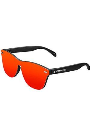 Northweek Unisex Regular Phantom FLAKA okulary przeciwsłoneczne, czerwone (czerwone), 140.0