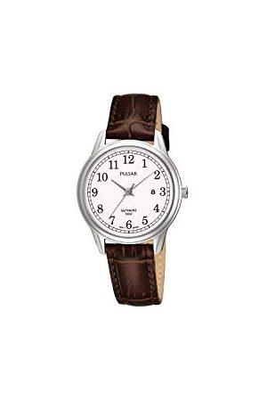 Pulsar Kwarcowy zegarek damski ze stali szlachetnej z paskiem skórzanym PH7187X1