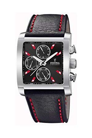 Festina Męski chronograf kwarcowy zegarek ze skórzanym paskiem F20424/8
