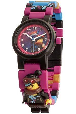LEGO Wear Movie 2 8021452 Wyldstyle dziecięcy zegarek do montażu z linkiem minifigurkowym | kolor | plastik | średnica obudowy 28 mm | analogowy kwarc | chłopięca | oficjalny