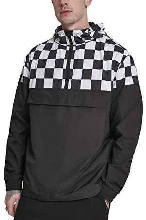 Urban classics Check Pull Over Jacket kurtka męska, czarna (Blk/Chess 01713), XXXX-Large (rozmiar producenta: 4XL)