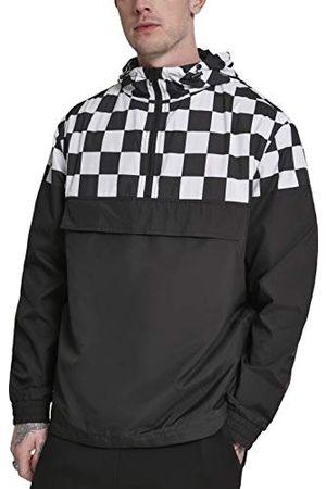 Urban classics Męska kurtka Windbreaker z wzorem szachownicy Check Pull Over Jacket