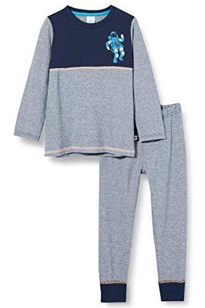 Sanetta Piżama chłopięca Long Nordic Blue długa piżama modny blok kolorowy i stylowy astronauta