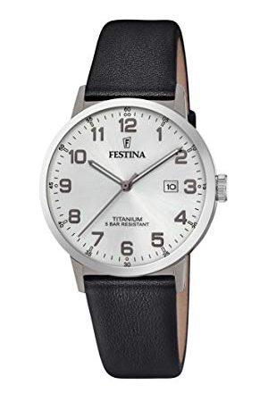 Festina F20471/1 męski analogowy zegarek kwarcowy ze skórzanym paskiem