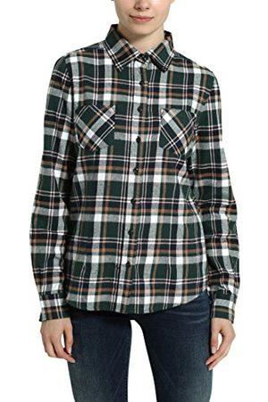 Berydale Damska bluzka flanelowa, zielona, XS