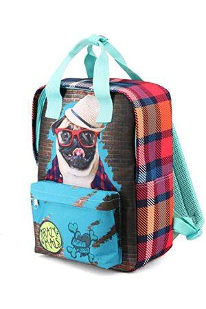 KARACTERMANIA Krazymals Pug-Dash plecak, 38 cm, 18,3 litra, wielokolorowy