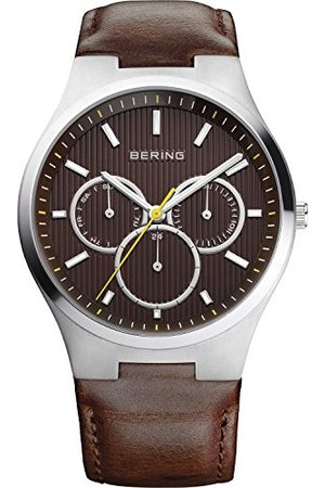 Bering Męski zegarek na rękę analogowy kwarcowy skóra 13841-505