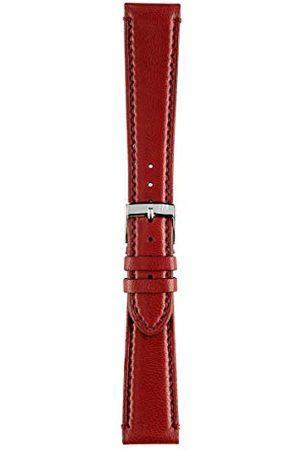 Morellato Bransoletka skórzana do zegarka unisex LIGABUE czerwona 20 mm A01X3495006182CR20