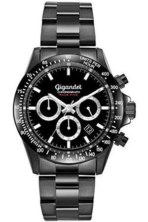 Gigandet Race King zegarek męski wodoszczelny 100 m analogowy mechanizm kwarcowy z bransoletką ze stali szlachetnej Chronograf G33-003