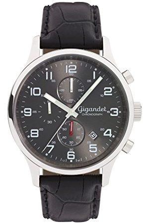 Gigandet Męski chronograf kwarcowy zegarek ze skórzanym paskiem G51-001