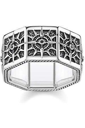 Thomas Sabo TR2275-643-11-50 pierścionek unisex z kompasem kwadratowym 925