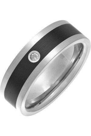 THEIA Pierścień tytan i emalia Intarsja płaski kształt 0,05 ct diament matowy 7 mm e tytan, 65 cm (20,7 cala), cod. TI4388-7 1x5p/V