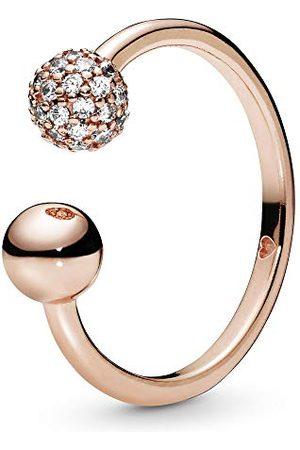 PANDORA Damski pierścionek, srebrny, pozłacany, rozmiar pierścionka 58 188316CZ-58