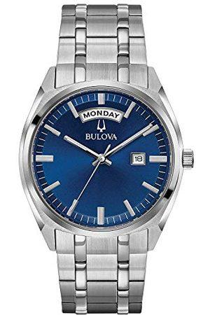 BULOVA Męski analogowy klasyczny zegarek kwarcowy z paskiem ze stali nierdzewnej 96C125