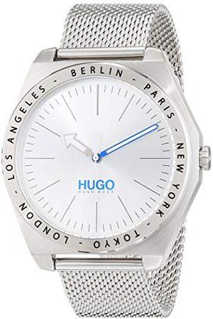 HUGO BOSS Uniseks-dorosły analogowy zegarek kwarcowy z paskiem ze stali nierdzewnej 1530107