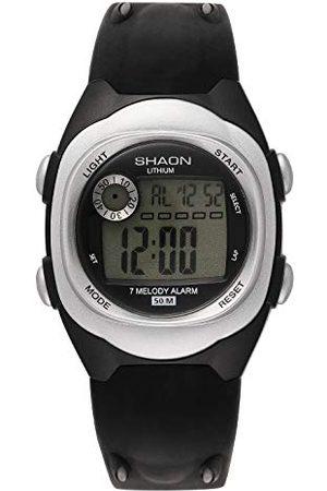 Shaon Męski cyfrowy zegarek kwarcowy z plastikową bransoletką 39-6081-84