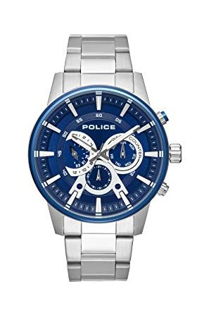 Police Policja męski wielofunkcyjny zegarek kwarcowy z paskiem ze stali nierdzewnej PL.15523JSTBL/03M