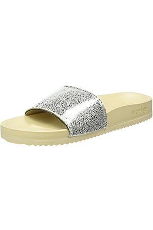 flip*flop Damskie sandały basenowe metaliczne, beżowy - kość słoniowa 0906-38 EU