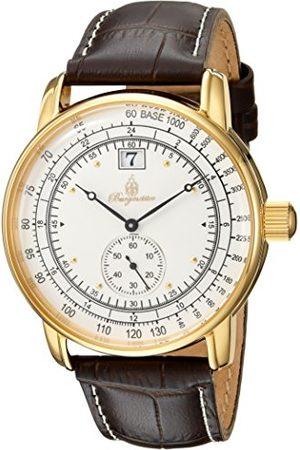 Burgmeister Męski analogowy zegarek kwarcowy ze skórzanym paskiem BM333-285