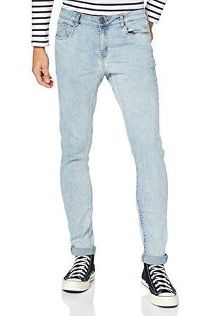 Urban classics Męskie spodnie jeansowe o kroju slim fit