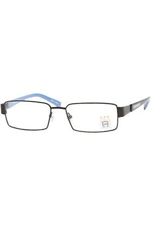 Man-City Unisex Manchester FC Adult Metal oprawki okularów na przepis, Black & Sky Blue/Clear, 56 mm