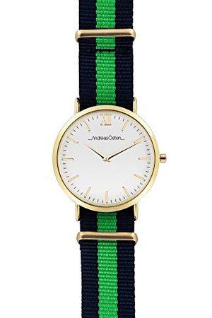 Andreas Osten Unisex analogowy zegarek kwarcowy z nylonowym paskiem AO-69