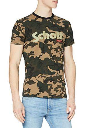 Schott NYC Męska koszulka z logo Tslogo