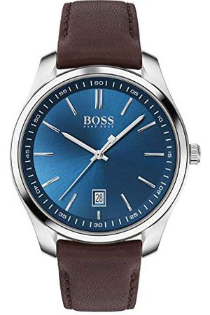 HUGO BOSS Męski analogowy zegarek kwarcowy ze skórzanym paskiem 1513728