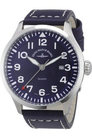 Zeno Męski zegarek kwarcowy Quarz 6569-515Q-a4 ze skórzanym paskiem