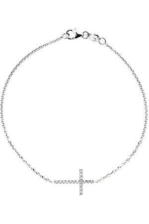 & You Bransoletka łańcuszek – białe złoto 18 kt – Vendôme – diament 0,15 karata – 18 cm – am- Brac Cross 015 B