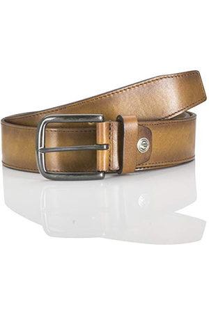Lindenmann Skórzany pasek dla mężczyzn z pełnej skóry bydlęcej, szerokość 40 mm i 3,5 mm - 4 mm moc, regulowany, pasek, skórzany pasek, pasek dżinsowy, kolor taupe, , 110