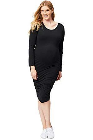 Cake Maternity Ciasto ciążowe damskie ciało przytulanie sukienka ciążowa z długim rękawem, czarna, mała